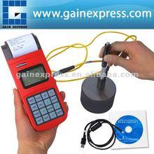 Portátil mh320 de rebote de la dureza leeb probador con mini impresora + d dispositivo de impacto tipo, cd& cable