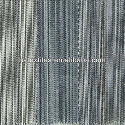 (UN88340) Blue & white stripe cotton spandex denim fabric