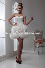 Guangzhou Stephanie Sweetheart Distinctive Flower Sexy Short Wedding Dress A6346