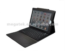 Tablet case cover Leather keyboard case for ipad , for ipad case with keyboard