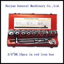 "3/4"" drive 15pcs auto body parts car tool kit socket set"