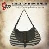 Single strap latest vintage canvas women shoulder bag