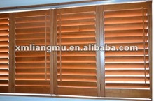 Operable Louvered Wood Plantation Window Shutters