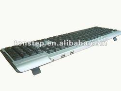 with extra 2 USB HUB waterproof multimedia keyboard