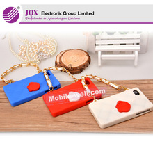 fashion silicone case for iphone 4s with handbag design three colors