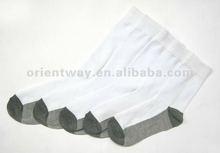 OEM promotion 100% cotton cheap socks