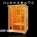 Full porta de vidro grande infravermelhos sauna seca - xq - 021c
