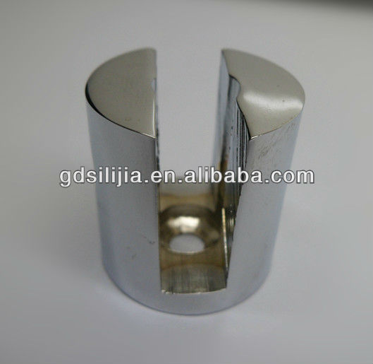 Shower bathroom pipe glass fitting brass connector for