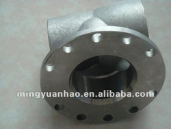 stainless steel flanged tee valve
