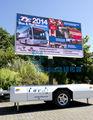 Mobile yeeso extérieure full color led publicité remorque pour les films, produits de publicité, live tv montre