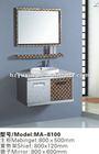 Modern Stainless steel slim bathroom vanity cabinet MA-8100