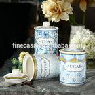 800CC Elegant Fine New Bone China Ceramic Canister Tea Coffee Sugar set of New Classic