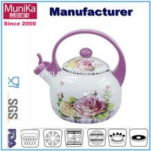 Enamel industrial cooking kettle/ Enamel kitchenware whistle kettle, water kettle/ home cooking kettle
