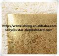 Gravado papel, de água papel de gravação, gravado papel de embrulho de ouro rolos de papel