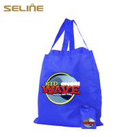 New recycle fashion design nylon foldable tote bag wholesale