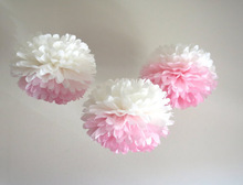 3 Tissue Paper Pom Poms Wedding Party - Donatale Accessories