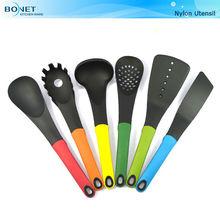 KNU0096 FDA & LFBG TPR with stand handle 6 PCS Plastic Kitchen Utensils