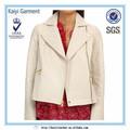 Marcas de ropa en hong kong, Genuino de la chaqueta de cuero para damas de color blanco