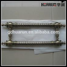 Luxury H shape classic brass door pull handle,brass handle antique