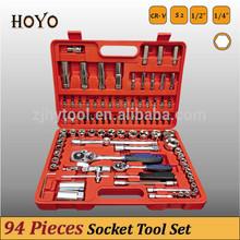 "1/2""&1/4"" Dr.94PCS Socket Wrench Set/High Quality Plastic Handles for Tools Flexible Ratchet Handle"