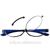 Patent Blue Magnifying glasses for reading MAKEUP Glasses Readers one lenses Flip up