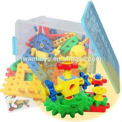 Gear Assembling Kids Plastic Building Blocks Toys