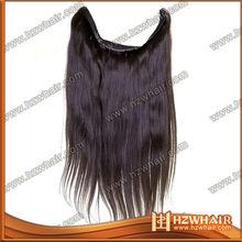 100% brazilian human hair , flip in hair extension,fish wire hair extension
