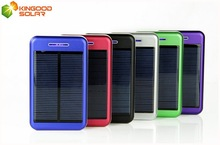 Fashionable dual usb 5V 1A/2.1A output with usb cable 13800mah mini solar mobile phone charger