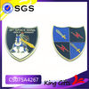Custom shield shaped knight gold challenge coin with sword and lightning logo