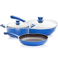 first-class aluminum ceramic cookware set and non-stick coating fry pan
