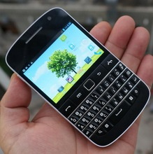Cellphone dual sim mobile phone 4.5 inch MTK6572 dual speak android phone with qwerty keyboard