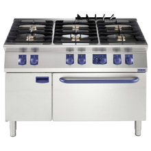 sopas freestanding stainless steel industrial cooking equipment 6 burner gas cooker with oven
