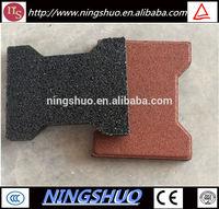 Anti-Slip Dog-Bone Safe Playground Rubber Tile / Rubber Tile / Rubber Floor