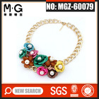 MG-60079 2014 new design statement necklace costume collar necklace metal jewelry gold jewelry
