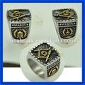 moda jóias atacado freemasons design anel de aço inoxidável maçônica anel