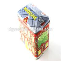 Dongguan wedding cake food tin house shaped money box