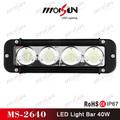 2015 de alta intensidade led barra de luz! Barato mini led light bar 12 v, 40 w led barra de luz para jeep, Suv, Trator, 4wd