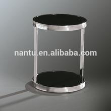 kullanılan ofis mobilyaları paslanmaz çelik yuvarlak cam masa
