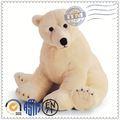 Modificado para requisitos particulares de la felpa juguetes fabricante meet EN71 ASTM estándar oso polar marionetas de mano para la venta
