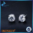 Clear 925 silver zirconia stud earrings