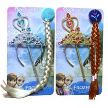 Elsa and Anna frozen crowns,wig and magic band sets