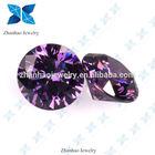china synthetic round cz stone amethyst