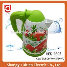 2014 mini appliances new design enamel electric water kettle