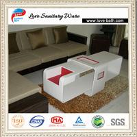 2014 factory price corian sofa center table