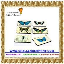 CGFM-E-049 Cheap Promotion Tourist Paper Board Butterfly Set Souvenir Fridge Magnet