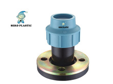 pp compression fittings flange pp/pe fittings for pipes plastic fittings made in pp irrigation supplier