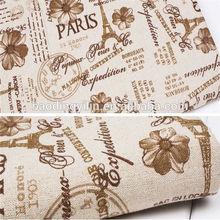 10*10 72*40 brown european pattern printed cotton fabric