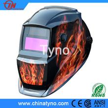 CE ANSI Auto darkening welding helmet/Welding helmet flame design