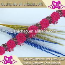 7.5cm flower organza trim fashion design lace baju kurung