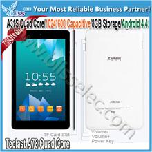 estável modelo a78 quad core de 7 polegadas android tablet pc